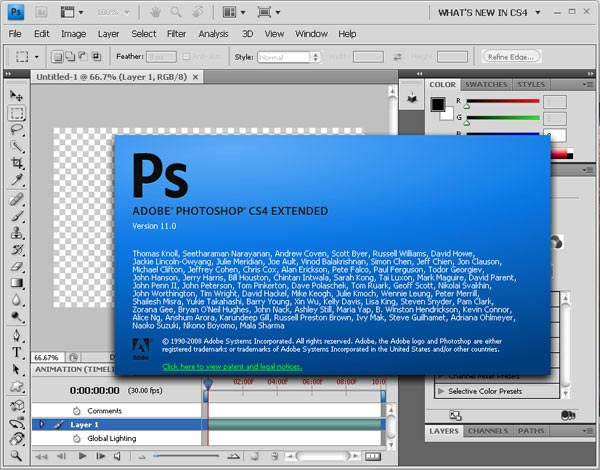 Photoshop Ordinato per Web