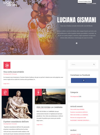 Sito Web WordPress Jaume Garcia Milano LucianaGismani.it